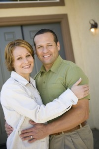 Couples need homeowners insurance when they get a house.