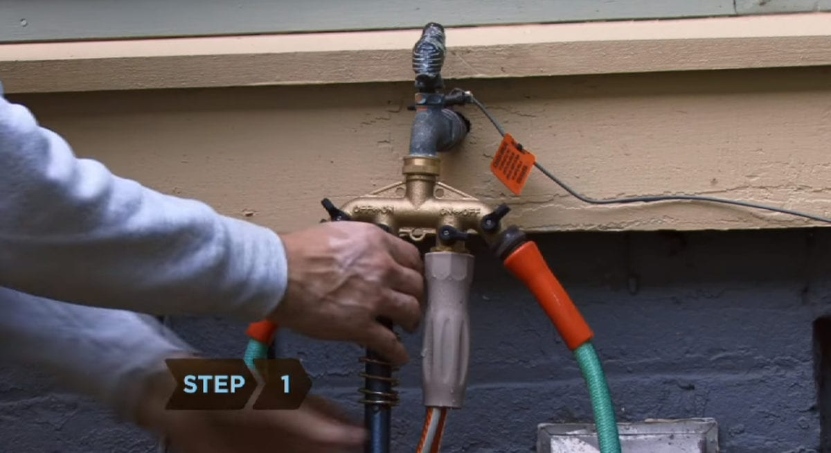 Unhook, drain and store outdoor hosed to prevent pipes from freezing