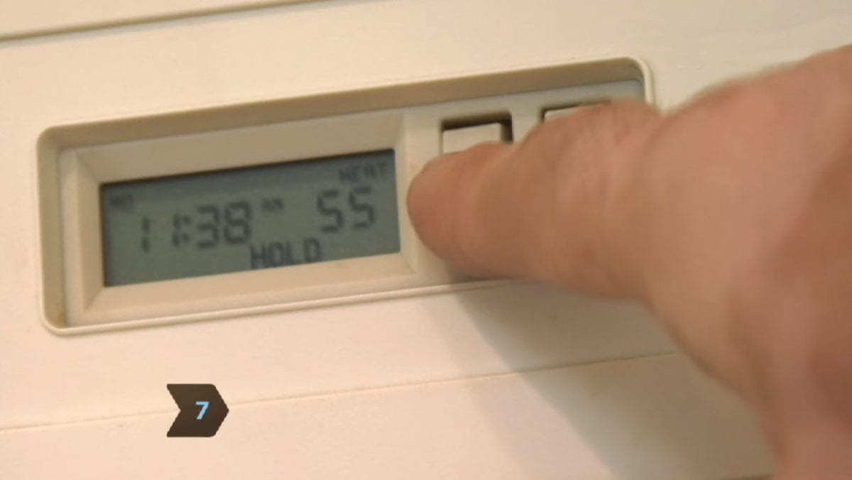 Set thermostat to keep pipes from freezing